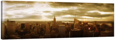 Buildings in a city, Manhattan, New York City, New York State, USA #2 Canvas Print #PIM8989
