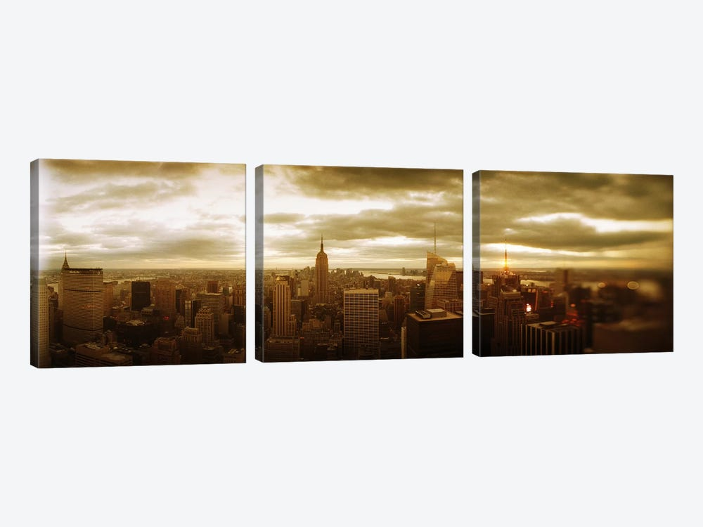 Buildings in a city, Manhattan, New York City, New York State, USA #2 by Panoramic Images 3-piece Canvas Wall Art