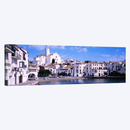 Buildings On The Waterfront, Cadaques, Costa Brava, Spain Canvas Print #PIM898} by Panoramic Images Canvas Print