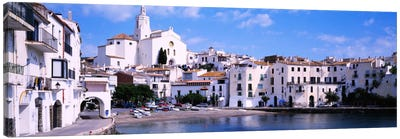 Buildings On The Waterfront, Cadaques, Costa Brava, Spain Canvas Art Print