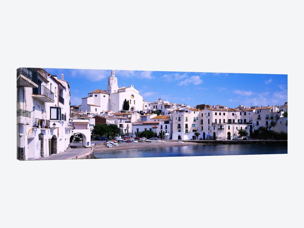 Buildings On The Waterfront, Cadaques, Costa Brava, Spain by Panoramic Images 1-piece Canvas Artwork