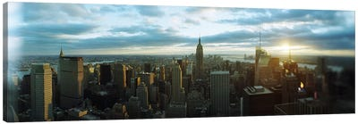 Buildings in a city, Empire State Building, Manhattan, New York City, New York State, USA 2011 Canvas Art Print