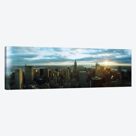 Buildings in a city, Empire State Building, Manhattan, New York City, New York State, USA 2011 Canvas Print #PIM8992} by Panoramic Images Art Print