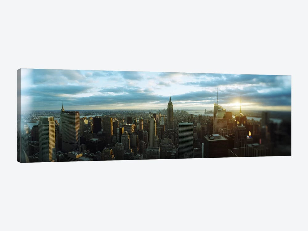 Buildings in a city, Empire State Building, Manhattan, New York City, New York State, USA 2011 by Panoramic Images 1-piece Canvas Wall Art