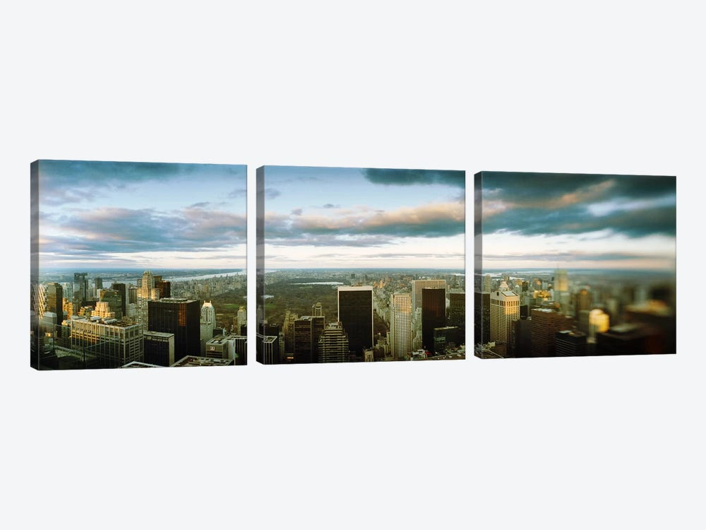 Buildings in a city, Empire State Building, Manhattan, New York City, New York State, USA by Panoramic Images 3-piece Canvas Art Print