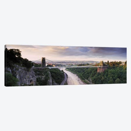 Clifton Suspension Bridge, Avon Gorge, Bristol, England Canvas Print #PIM8994} by Panoramic Images Canvas Artwork