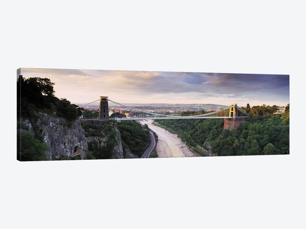 Clifton Suspension Bridge, Avon Gorge, Bristol, England by Panoramic Images 1-piece Canvas Wall Art