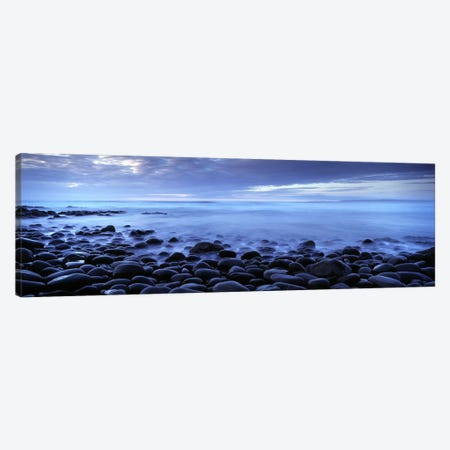 Stoney Coastal Landscape, Westward Ho!, Devon, South West, England, United Kingdom Canvas Print #PIM8998} by Panoramic Images Canvas Print