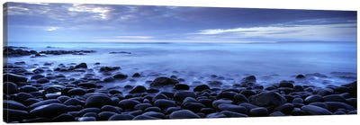 Stoney Coastal Landscape, Westward Ho!, Devon, South West, England, United Kingdom Canvas Print #PIM8998