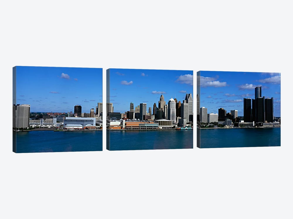 USAMichigan, Detroit by Panoramic Images 3-piece Canvas Art Print