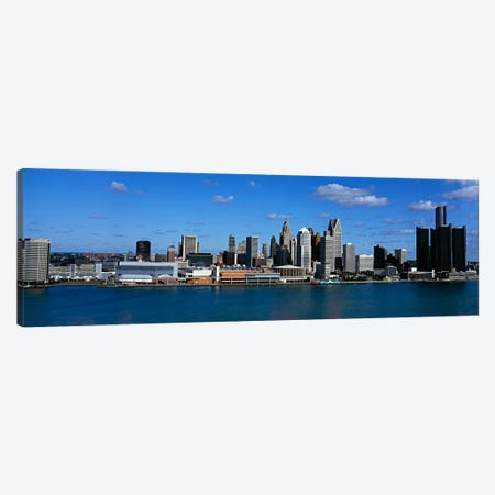 USAMichigan, Detroit 3-Piece Canvas #PIM89} by Panoramic Images Canvas Wall Art