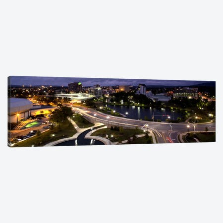 High angle view of a city, Big Spring Park, Huntsville, Madison County, Alabama, USA Canvas Print #PIM9000} by Panoramic Images Canvas Art