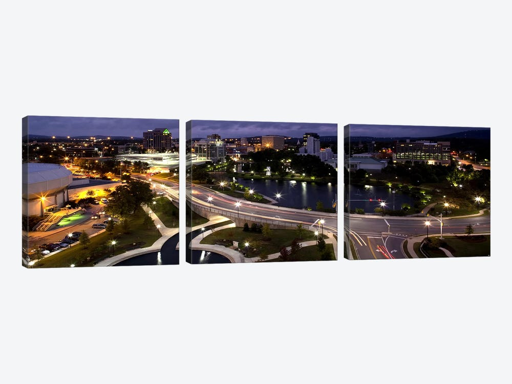 High angle view of a city, Big Spring Park, Huntsville, Madison County, Alabama, USA by Panoramic Images 3-piece Art Print