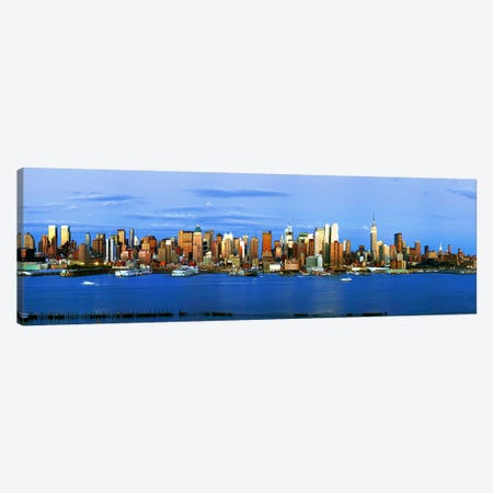 Skyscrapers in a city, Manhattan, New York City, New York State, USA #2 Canvas Print #PIM9001} by Panoramic Images Canvas Artwork