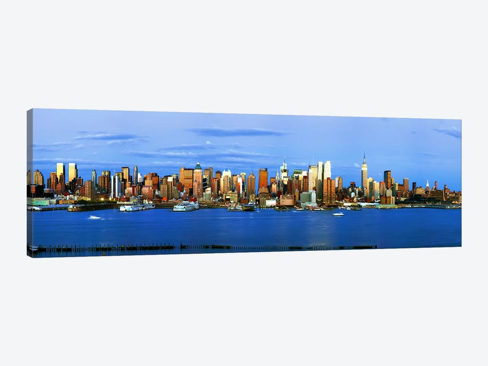 Skyscrapers in a city, Manhattan, New York City, New York State, USA #2 by Panoramic Images 1-piece Canvas Wall Art