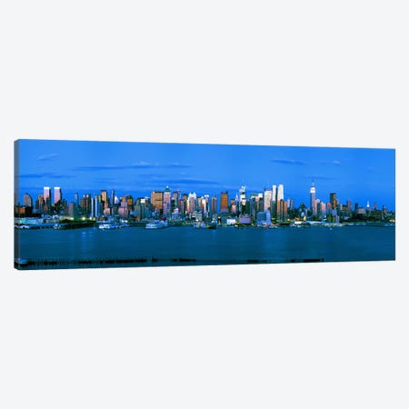 Skyscrapers in a city, Manhattan, New York City, New York State, USA #3 Canvas Print #PIM9003} by Panoramic Images Canvas Art