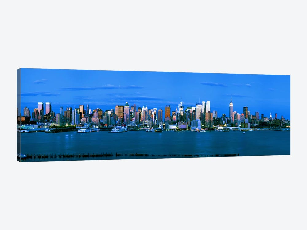 Skyscrapers in a city, Manhattan, New York City, New York State, USA #3 1-piece Canvas Wall Art