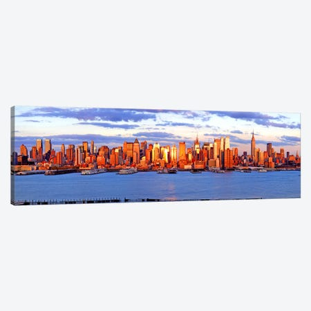 Skyscrapers in a city, Manhattan, New York City, New York State, USA #4 Canvas Print #PIM9004} by Panoramic Images Canvas Art Print