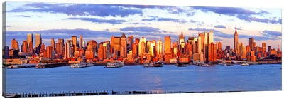 Skyscrapers in a city, Manhattan, New York City, New York State, USA #4 Canvas Art Print