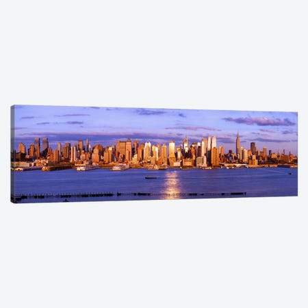 Skyscrapers in a city, Manhattan, New York City, New York State, USA #5 Canvas Print #PIM9005} by Panoramic Images Canvas Print
