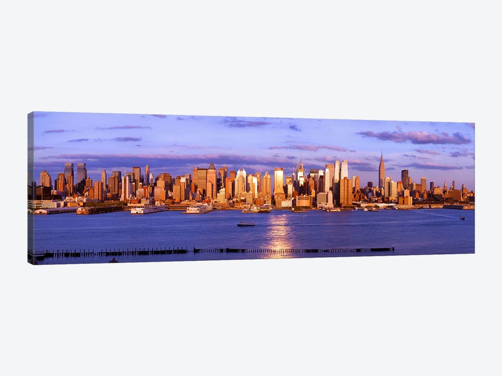 Skyscrapers in a city, Manhattan, New York City, New York State, USA #5 by Panoramic Images 1-piece Canvas Art