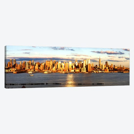 Skyscrapers in a city, Manhattan, New York City, New York State, USA #6 Canvas Print #PIM9006} by Panoramic Images Art Print