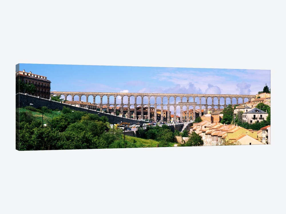 Aqueduct Of Segovia, Castile and Leon, Spain by Panoramic Images 1-piece Canvas Artwork