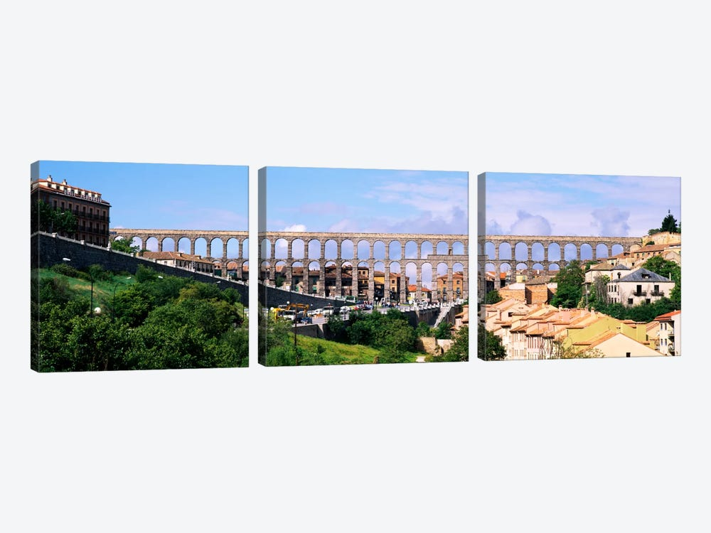 Aqueduct Of Segovia, Castile and Leon, Spain by Panoramic Images 3-piece Canvas Art