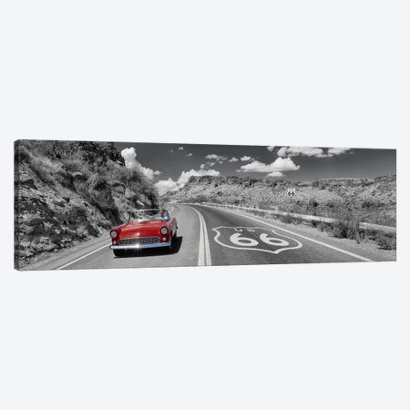 Vintage car moving on the road, Route 66, Arizona, USA Canvas Print #PIM9011} by Panoramic Images Canvas Print