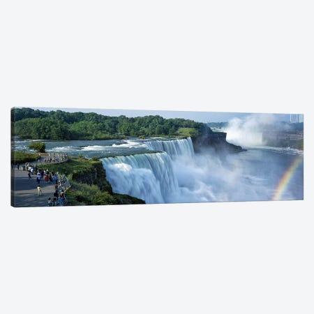 Tourists at a waterfall, Niagara Falls, Niagara River, Niagara County, New York State, USA Canvas Print #PIM9013} by Panoramic Images Art Print