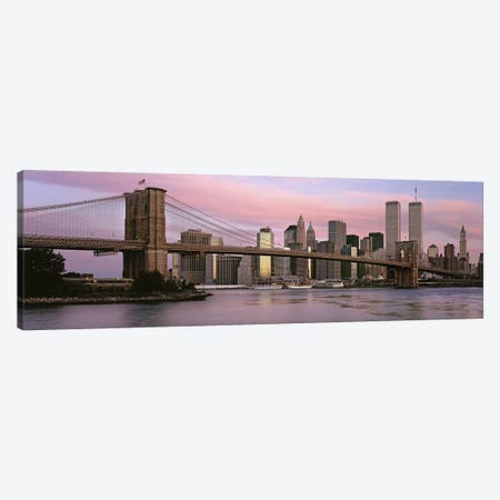 Bridge across a river, Brooklyn Bridge, Manhattan, New York City, New York State, USA Canvas Print #PIM9014} by Panoramic Images Canvas Wall Art
