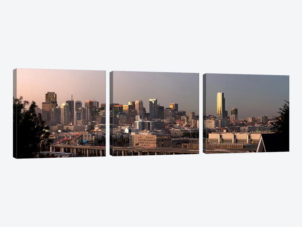 Buildings in a city, San Francisco, California, USA 2010 by Panoramic Images 3-piece Art Print