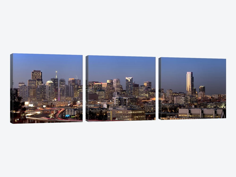 Buildings in a city, San Francisco, California, USA 2010 #2 by Panoramic Images 3-piece Canvas Artwork