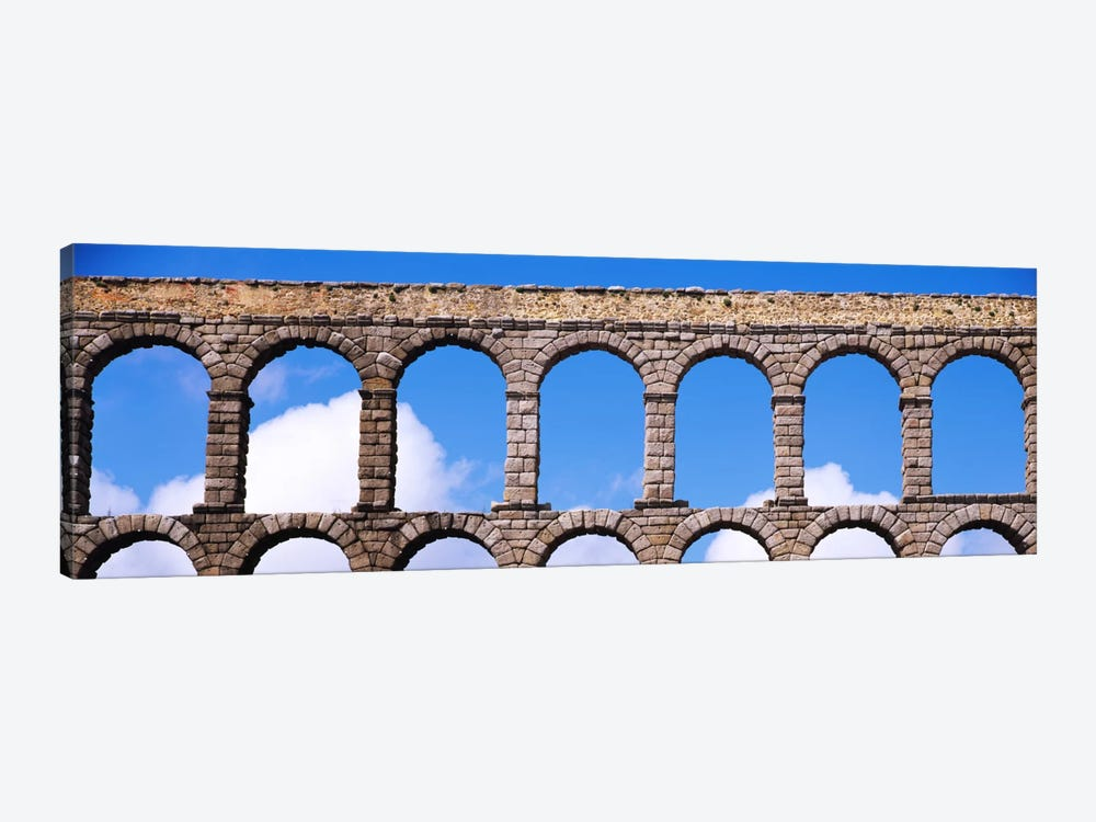 Roman Aqueduct, Segovia, Spain by Panoramic Images 1-piece Canvas Print