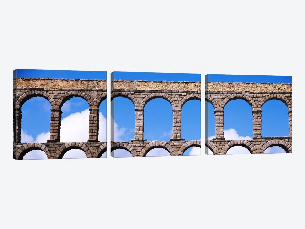 Roman Aqueduct, Segovia, Spain by Panoramic Images 3-piece Art Print