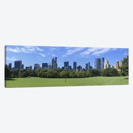 Park with skyscrapers in the backgroundSheep Meadow, Central Park, Manhattan, New York City, New York State, USA Canvas Print #PIM9022} by Panoramic Images Canvas Artwork