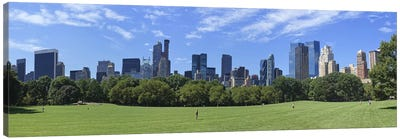 Park with skyscrapers in the backgroundSheep Meadow, Central Park, Manhattan, New York City, New York State, USA Canvas Art Print