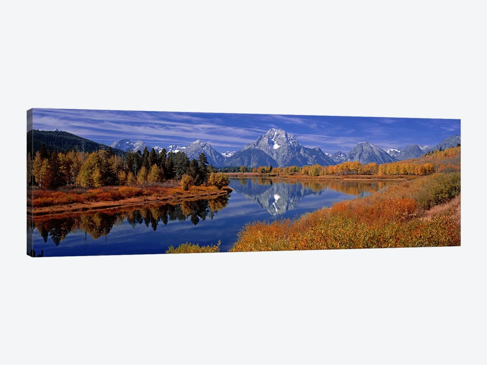 Autumn Landscape Featuring Mount Moran, Oxbow Bend Of Snake River, Grand Teton National Park, Wyoming, USA by Panoramic Images 1-piece Canvas Wall Art