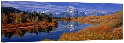 Autumn Landscape Featuring Mount Moran, Oxbow Bend Of Snake River, Grand Teton National Park, Wyoming, USA Canvas Art Print