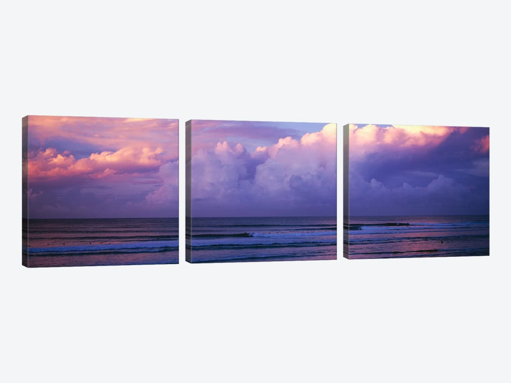 Clouds over the sea at sunset by Panoramic Images 3-piece Canvas Art