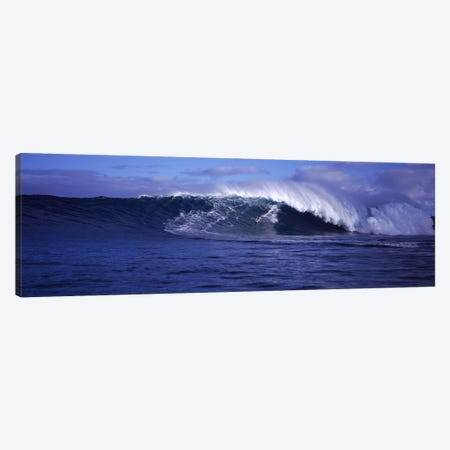 Surfer in the oceanMaui, Hawaii, USA Canvas Print #PIM9047} by Panoramic Images Art Print