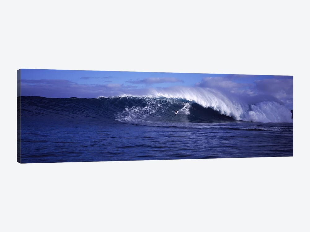 Surfer in the oceanMaui, Hawaii, USA by Panoramic Images 1-piece Canvas Artwork