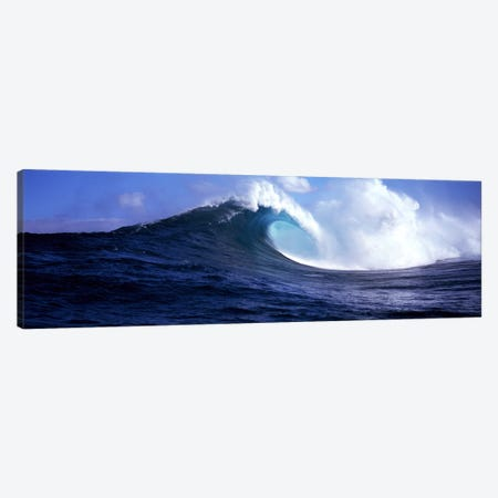 A Plunging Breaker, Near Maui, Hawaii, USA Canvas Print #PIM9048} by Panoramic Images Canvas Wall Art