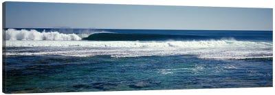Wave splashing in the sea Canvas Print #PIM9049