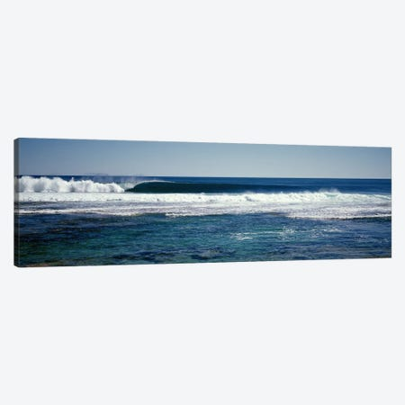 Wave splashing in the sea Canvas Print #PIM9049} by Panoramic Images Canvas Art