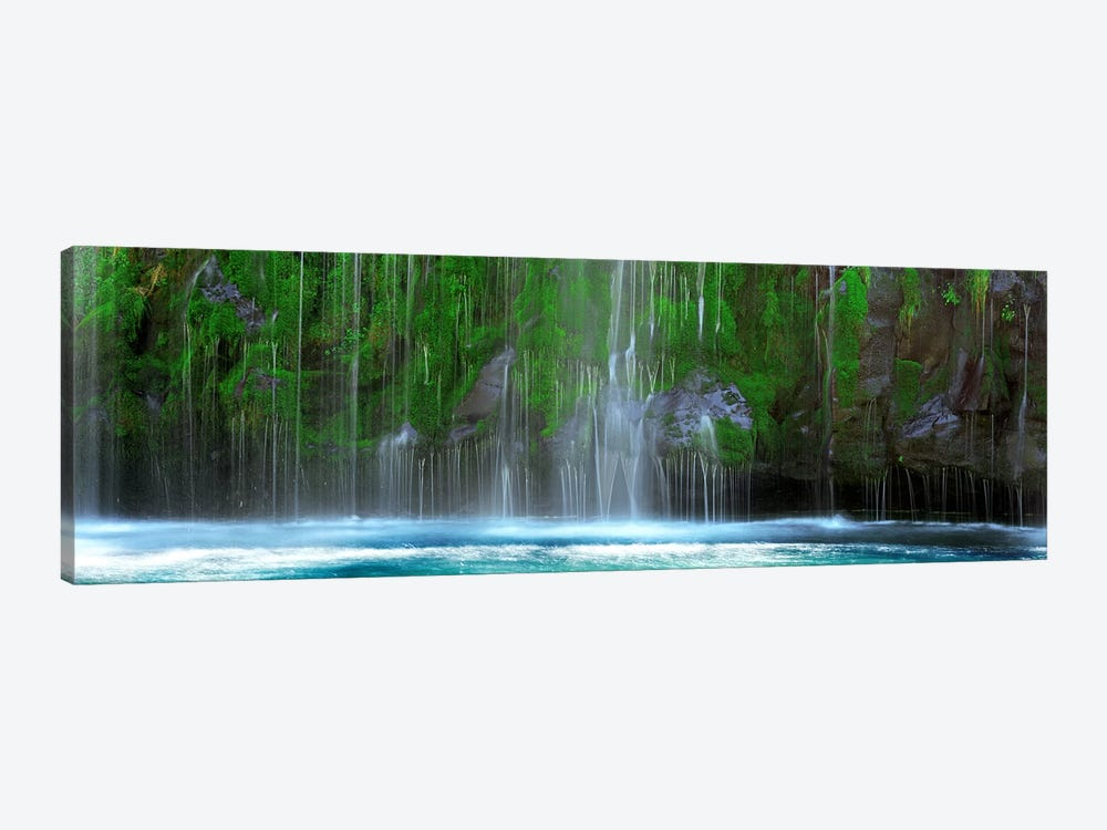 Waterfall in a forestMossbrae Falls, Sacramento River, Dunsmuir, Siskiyou County, California, USA by Panoramic Images 1-piece Canvas Art
