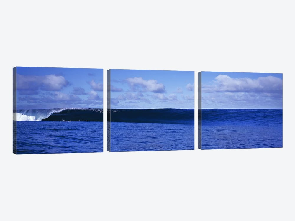 Waves splashing in the sea by Panoramic Images 3-piece Canvas Print