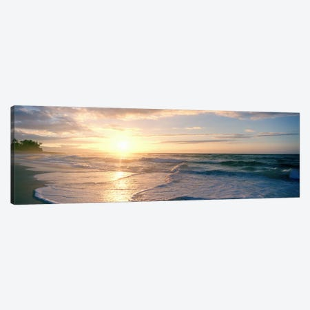 Sunset over the sea Canvas Print #PIM9055} by Panoramic Images Canvas Art