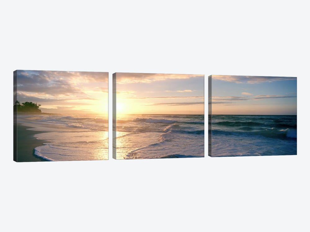 Sunset over the sea by Panoramic Images 3-piece Art Print