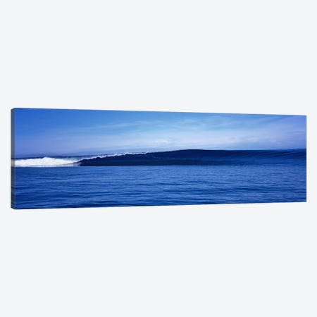 Waves splashing in the sea Canvas Print #PIM9061} by Panoramic Images Canvas Wall Art